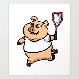 Racquetball Gift Ball Sports Racket Tennis Art Print