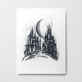Dystopia city Metal Print