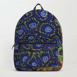 "Macro of Coral Zoanthus ""Blue Hornet"" Backpack"
