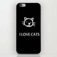I LOVE CATS iPhone & iPod Skin