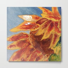 Turns to the wind sunflower | Tourne-au-vent Metal Print