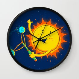 Inter-clack-tic Orbit Wall Clock