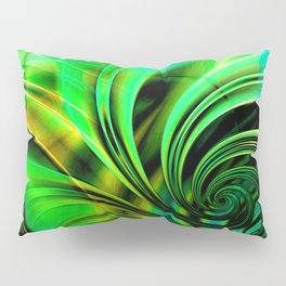 Curls Deluxe Green Pillow Sham