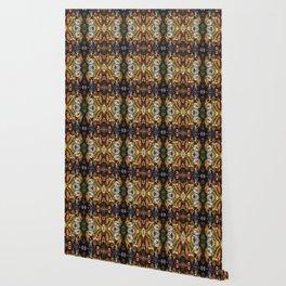 Ornamental Pattern in warm autumn colours Wallpaper