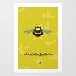 Endangered: The Rusty Patched Bumble Bee Art Print