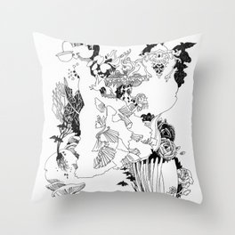 Caught In-Between Throw Pillow