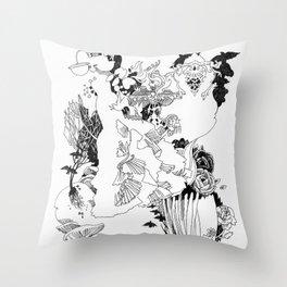 Caught In-Between Throw Pillow