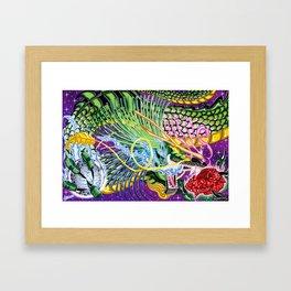 Dragon Of The Rose Framed Art Print