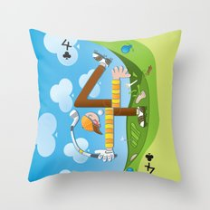 Fore of Clubs Throw Pillow