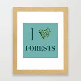 I heart Forests Framed Art Print