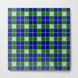 Team Colors 11 blue,green , silver pattern Metal Print