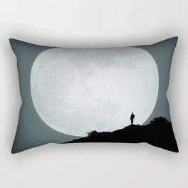 The Photographer and the Moon Rectangular Pillow