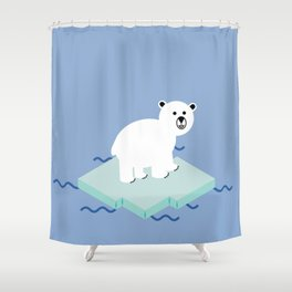 Snow Buddy Shower Curtain