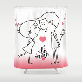 Valentines Day Special Love Couple Shower Curtain