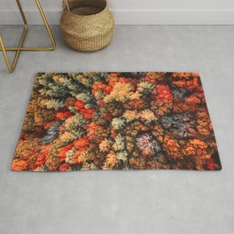 autumnal tree in new england Rug