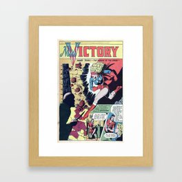 Miss Victory- Framed Art Print