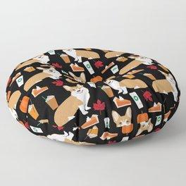 Corgi - Pumpkin Spice, psl, coffee, latte, pumpkin pie,  fall, autumn, holiday, Floor Pillow