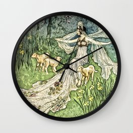 Fairy in the Meadow Wall Clock