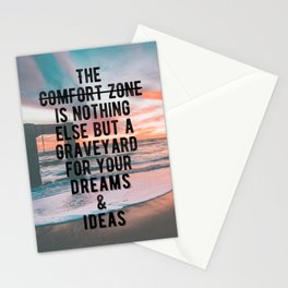 Motivational - Run From Your Comfort Zone Quote Stationery Cards