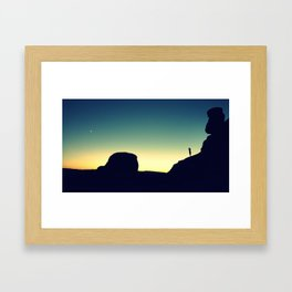Sunset at DelicateArch Framed Art Print