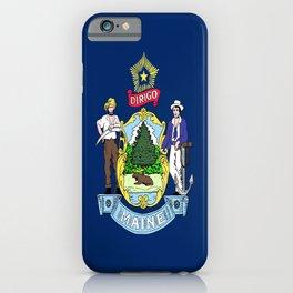 flag maine,america,usa,pine tree,vacationland, mainer,new england,portland,brunswick,lewiston iPhone Case