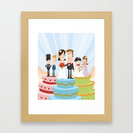 Wedding Party Framed Art Print