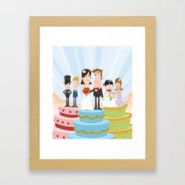 Wedding Party Framed Art Print