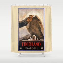 Ercolano Naples Italian art deco ad Shower Curtain