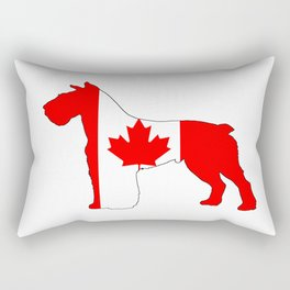 "Schnauzer ""Canada"" Rectangular Pillow"