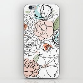Inky Camellias iPhone Skin