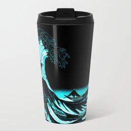 The Great Wave : Dark Teal Travel Mug