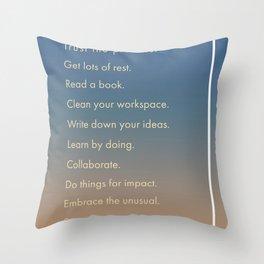 Dream Create Inspire Throw Pillow