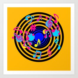 music love Art Print