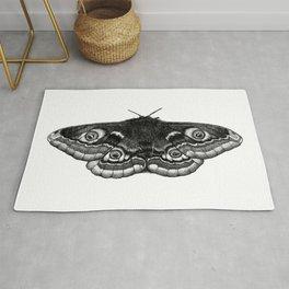 Moth Dotwork Drawing Rug