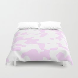 Large Spots - White and Pastel Violet Duvet Cover
