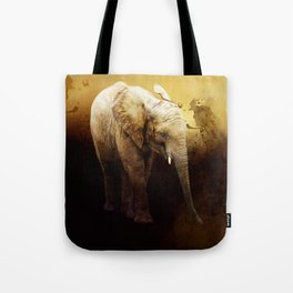 The cute elephant calf Tote Bag