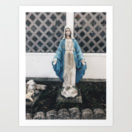 Eerie Mary Art Print