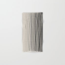 Black Vertical Lines Hand & Bath Towel