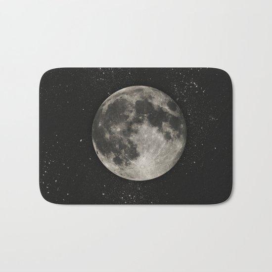 The Moon  [Sans Type] Bath Mat