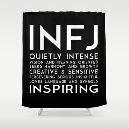 INFJ (black version) Shower Curtain