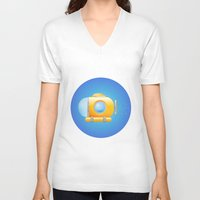 submarine V-neck T-shirts featuring submarine by JuliaTara