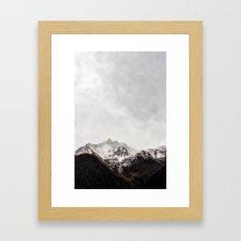 Scenic Mountain Photograph Grunge Weathered Look Framed Art Print