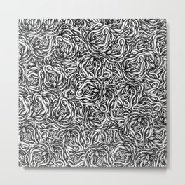 Infinite Snake Pattern Metal Print