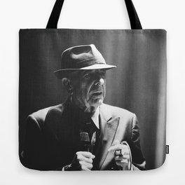Leonard Cohen concert photo Tote Bag