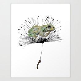 Frog in Seed Art Print