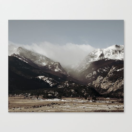 Snow Clouds Canvas Print