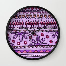 Yzor pattern 001 pink Wall Clock