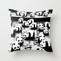 animal crew Throw Pillows featuring Crew by Panda Cool