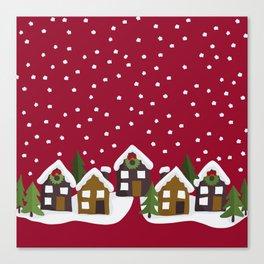 Winter idyll Canvas Print