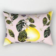 Citrus paradise. Tropical pattern with lemons Rectangular Pillow